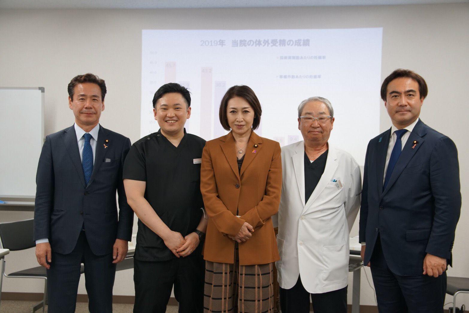 厚生労働副大臣の三原じゅん子先生がご視察にいらっしゃいました